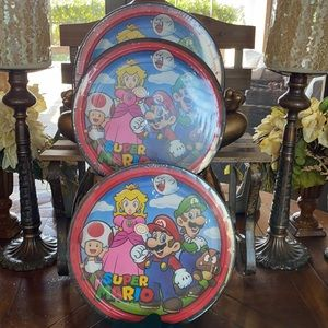 Super Mario 24 Count Dinner/Lunch Plates